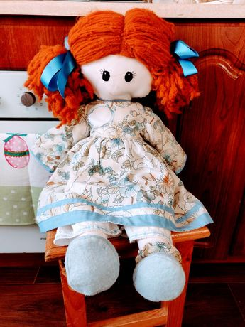 Большая кукла тряпичная мотанка со съемной одеждой и обувью