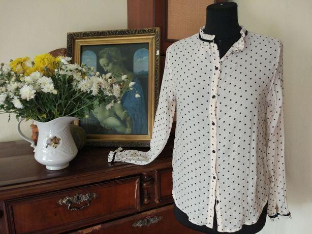 блузка в горошек. Винтажная блузка.Актуальная рубашка в цветочек.