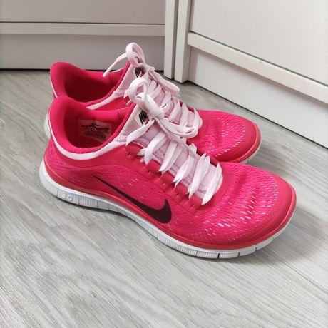 Nike free 3.0 v5 38 do biegania lekkie różowe jak nowe