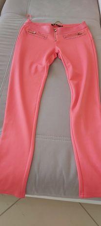 Spodnie damskie koralowe