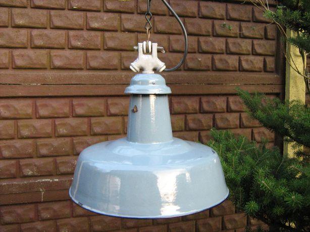 Lampa przemysłowa emaliowana z podsufitką.Loft.Industrial PRL