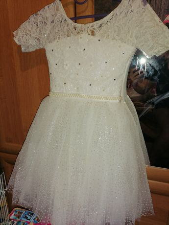 Нарядное платье для девочки принцессы 6-8 лет