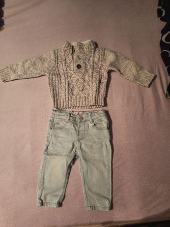 Sweterek i jeansy 68-74