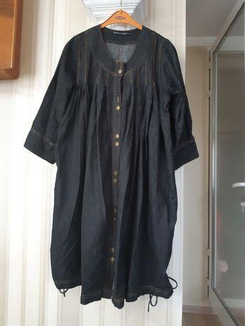 р.46 Платье, джинсовое, балахонистое, на беременную