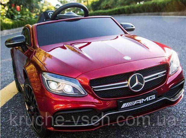 Детский электромобиль M 4010, Mercedes-Benz AMG C63S, кожа, EVA колеса