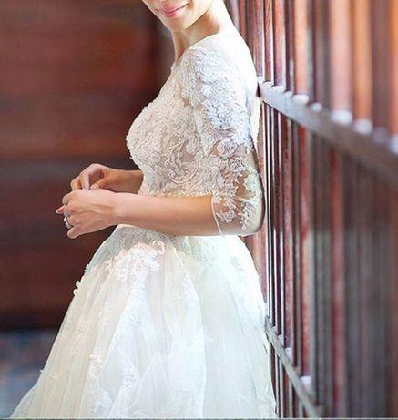 Suknia ślubna rękawek kolor IVORY 38 M