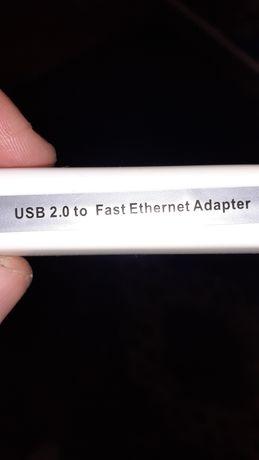 Переходник адаптер  RJ-45 - USB.Подходит для смарт тв Ми бокс(mi box)