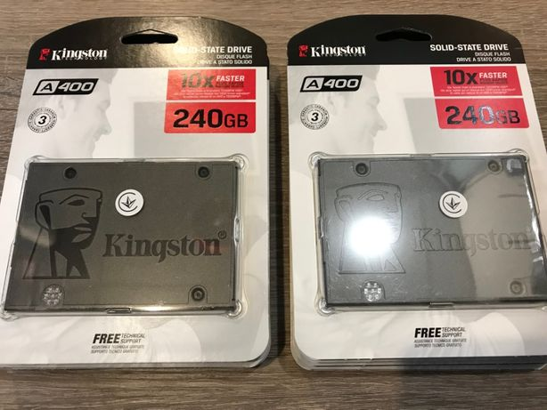Новые SSD диски Kingston A400 по 240 GB (500 Mb/s) SATA III