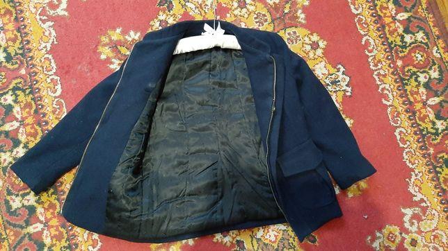 Шикарное кашемировое полу пальто-пиджак для ребенка 5-7 лет