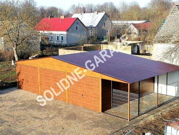 Garaż blaszany drewnopodobny NAJLEPSZA CENA PROMOCJA
