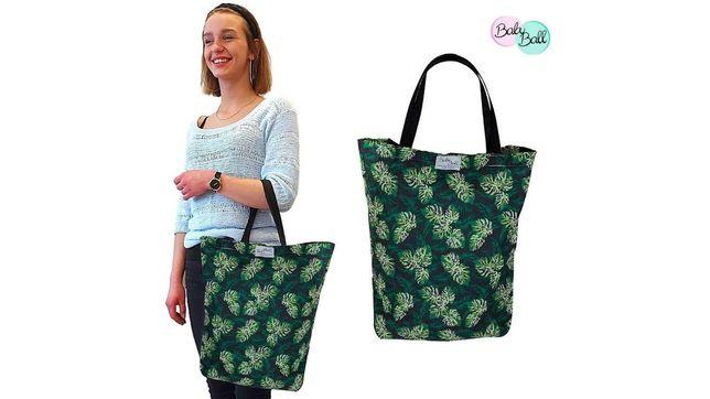 Torba bawełniana XL prezent na zakupy szmacianka shopperka