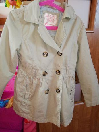 Płaszcz wiosenny dla dziewczynki C&A rozmiar 128