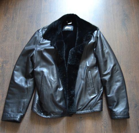 Мужская дубленка кожаная куртка Brioni
