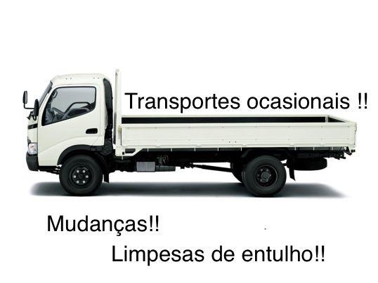 Transportes/ Limpesas de entulho garagens armazens/ mudancas carrinha