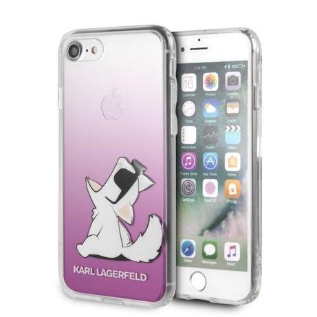 Etui Karl Lagerfeld do iPhone 7 / iPhone 8 różowy/pink Choupette Fun