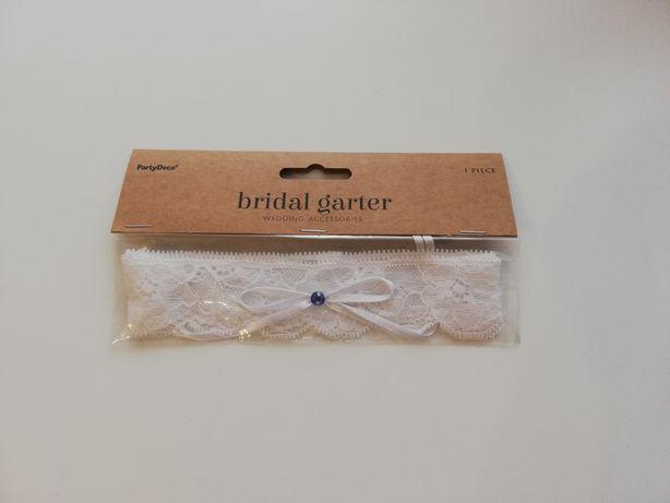 Podwiązka biała Bridal Garter