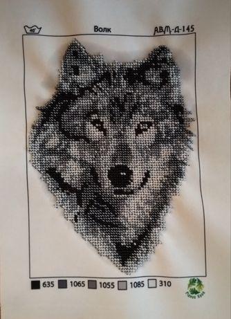 Волк картинка бисером