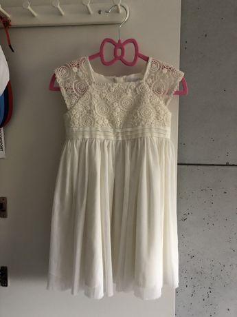Sukienka r. 92 cool club smyk tiul koronka kremowa elegancka