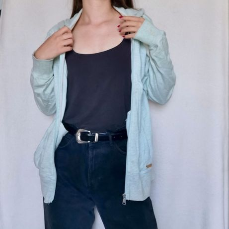 Miętowa bluza zapinana Pull&Bear