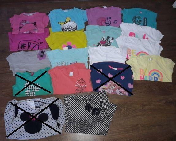 Bluzki i sukienki dla dziewczynki rozm 122