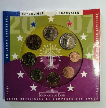 Carteira Moedas Euro BNC França 2007