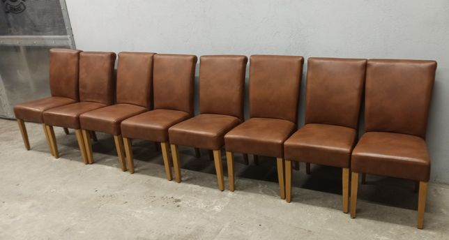 Krzesła eko skóra 8szt Wektor. Ługòw