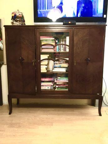 Biblioteczka antyk regał witryna półka szafka po renowacji
