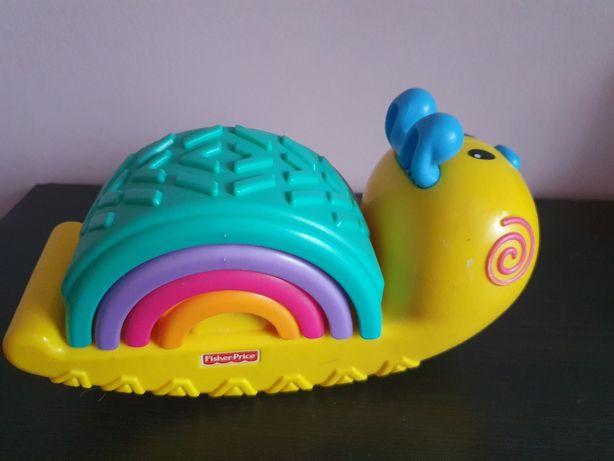 Kolorowy ślimak piramidka Fisher Price