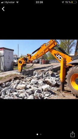 Услуги экскаватора.Демонтаж строительств и зданий.Демонтаж бетона