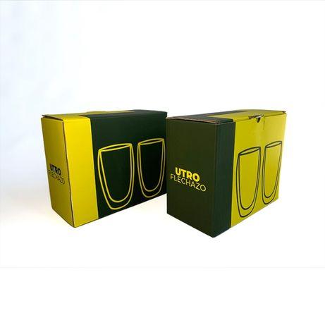 Стеклянные стаканы с двойными стенками UTRO Flechazo 450 | Львов