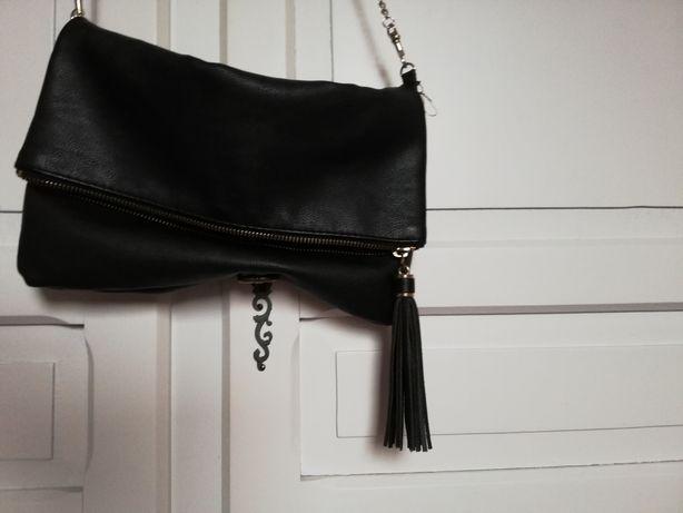 Czarna torebka kopertówka H&M