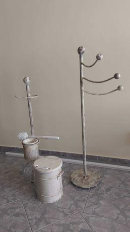 conjunto wc - suporte toalhas, porta rolo, piaçaba e balde