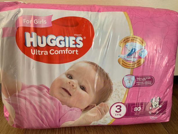 Подгузники для девочек Huggies Ultra Comfort 3 (5-9 кг) 80шт