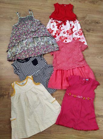 Ubranka dziewczęce 18 24 sukienki 86 92 rampersy