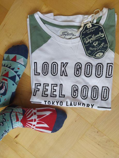 Koszulka damska tokyo Laundry M zielona biała nowa