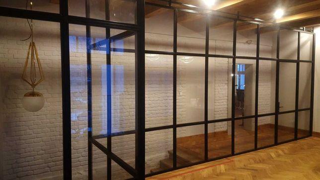 Ścianki LOFTOWE | drzwi | balustrady | pełne zabudowy LOFT WYS. JAKOŚĆ