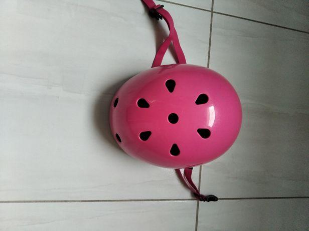 Różowy kask na rower dla dziewczynki