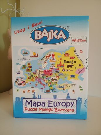 Mapa Europy, Puzzle, 84 elementy