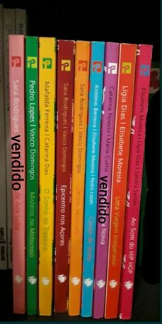 Livros morangos com açúcar