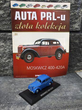 Kolekcjonerski MOSKWICZ 400-420A-auta PRL,model,autka,resoraki,auto