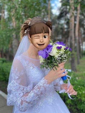 Свадебное платье пушка-гонка!