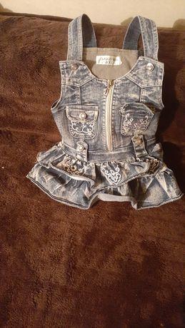 Комбез-платье для девочки