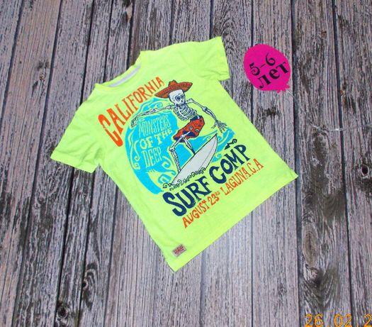 Фирменная футболка Next для мальчика 5-6 лет, 110-116 см