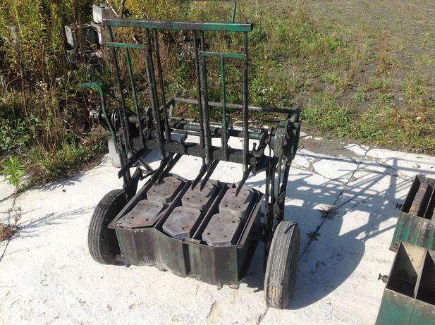 Wózek i stół do produkcji pustaków, bloczków, stropów. Pustaczarka