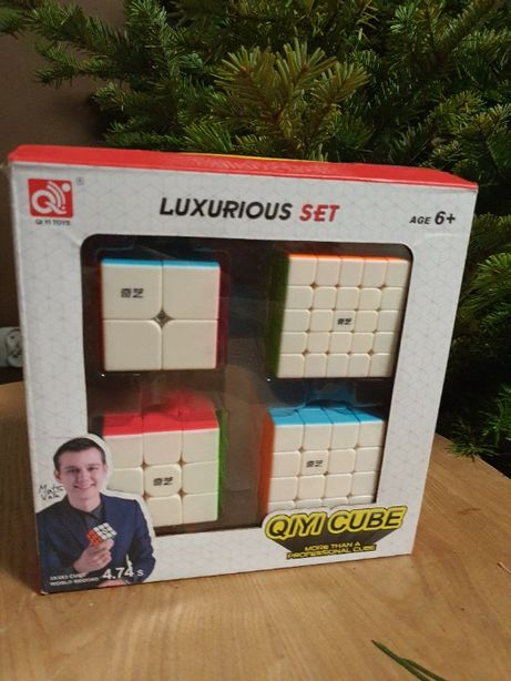 Kostka Rubika! Zestaw 4 kostek Rubika 2x2, 3x3, 4x4, 5x5, prezent