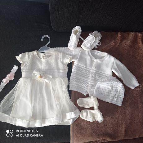 Piękna sukienka rozmiar 80 (color ecru)