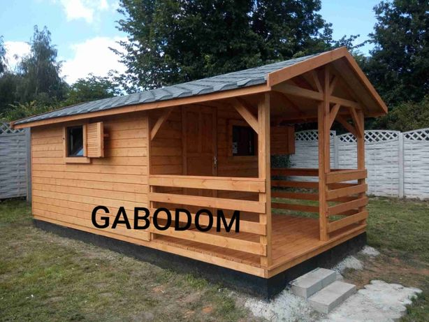 Domek drewniany letniskowy 18m2 CZAD domki drewniane wszystko w cenie
