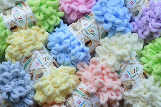 Ализе Пуффи!! Alize Puffy плюшевая пряжа для вязания руками с петлями