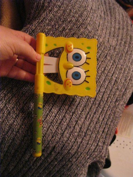 игрушка пластик трещетка крутится флажок губка боб спанч Sponge Bob