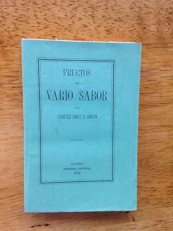 Fructos de Vario Sabor, Francisco Gomes de Amorim